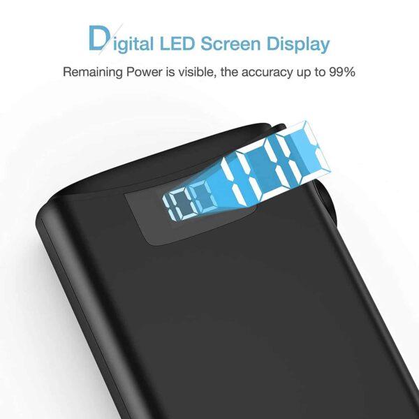 Batterie externe 10000mAh avec écran affichage en pourcentage