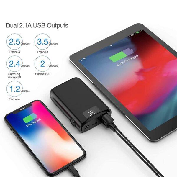 Batterie externe 10000mAh avec écran capacité et charge rapide