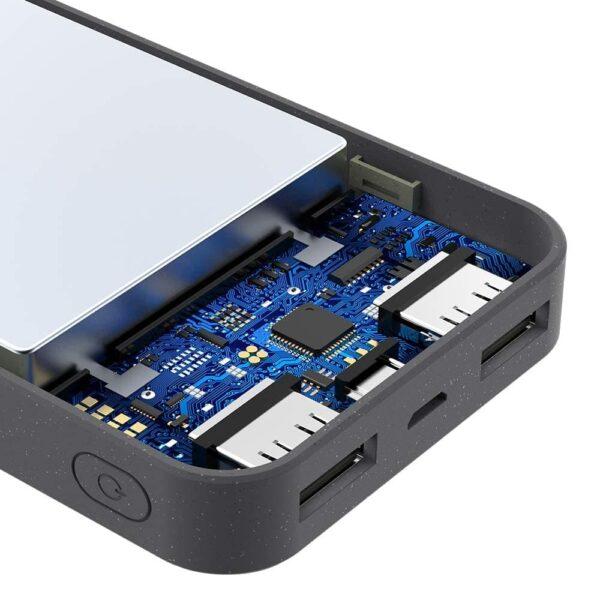 Batterie externe 10000mAh grise protection