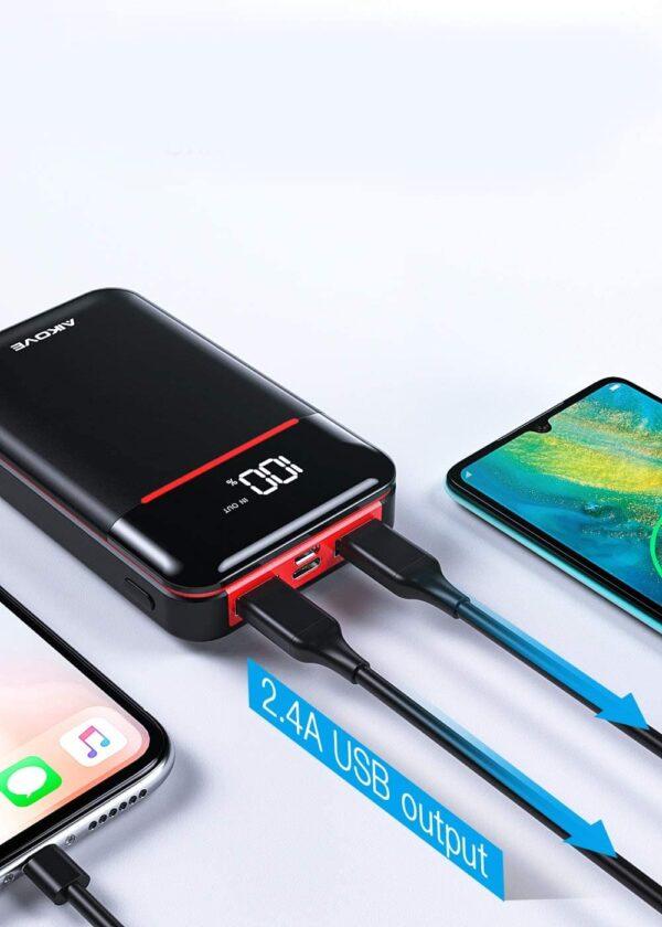 Batterie externe 10000mAh légère et puissante charge rapide