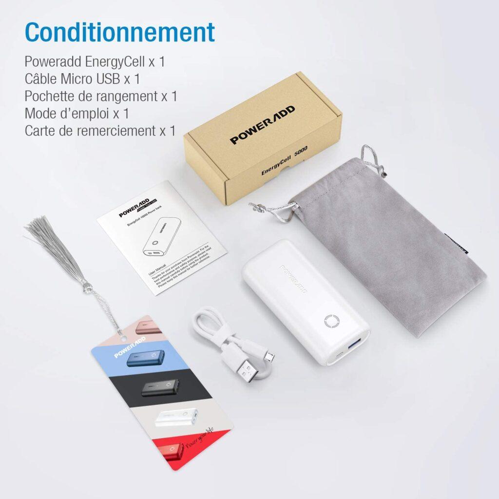 Batterie externe 10000mAh petite et puissante accessoires