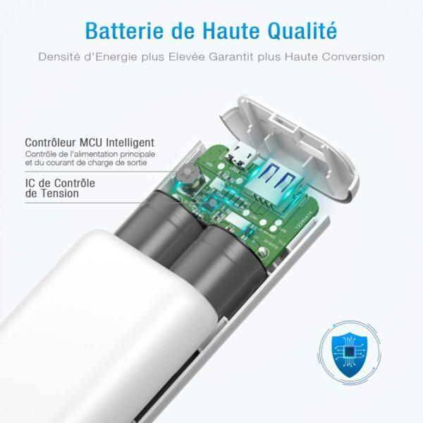 Batterie externe 10000mAh petite et puissante haute qualité matériaux fiables