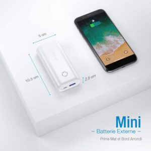 Batterie externe 10000mAh petite et puissante de taille mini