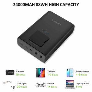 Batterie externe 20000mAh avec prise secteur grande capacité
