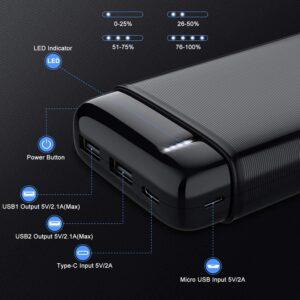 Batterie externe 3 Ports USB caracteristiques