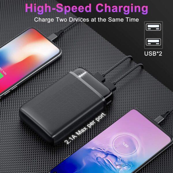 Batterie externe 3 Ports USB charge rapide