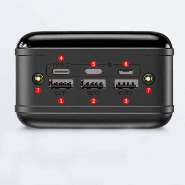 Batterie externe 50000mAh charge rapide nombre de port 6