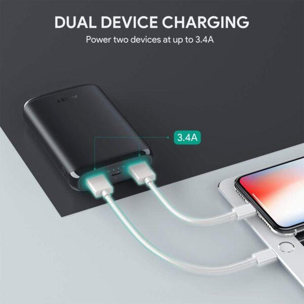 Batterie externe Lightning double charge appareil
