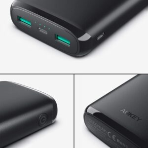 Batterie externe Lightning ports USB et finitions