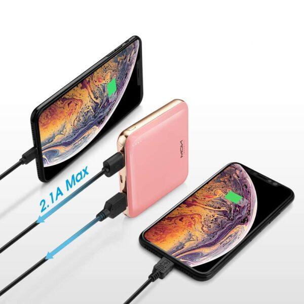 Batterie externe Rose charge rapide