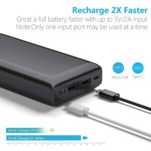 Batterie externe USB C Lithium Ion recharge 2 fois plus vite