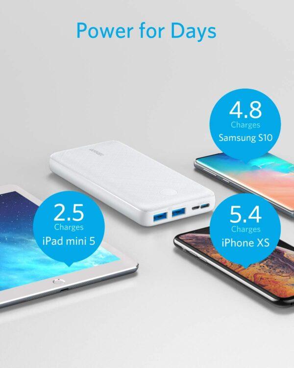 Batterie externe USB C Lithium Polymère puissance pour plusieurs jours