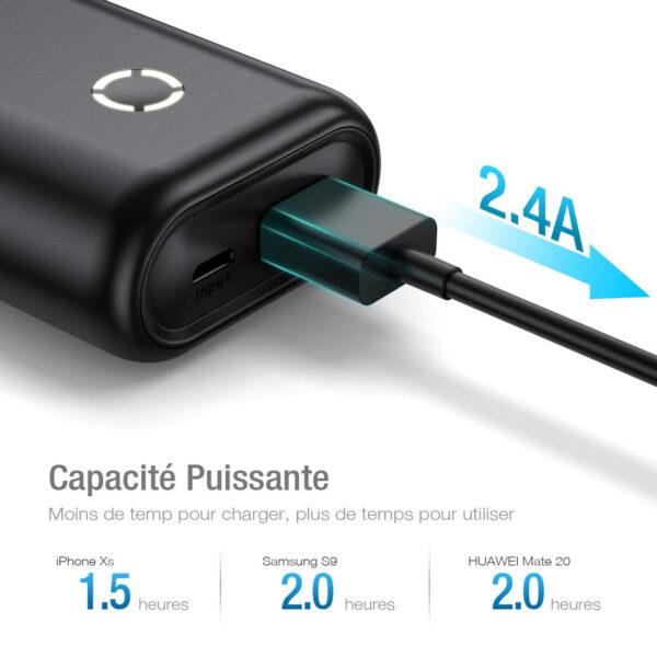 Batterie externe Ultra Légère charge rapide
