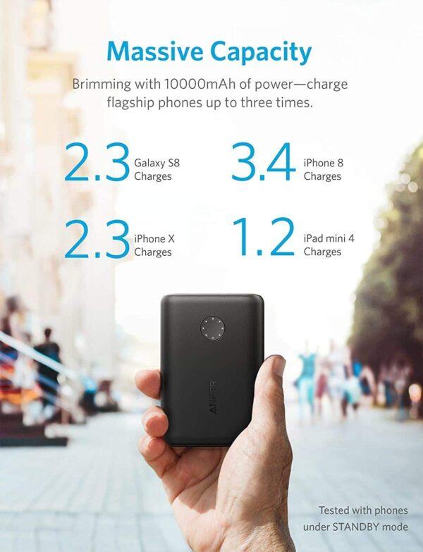 Batterie externe Ultra compacte capacité massive