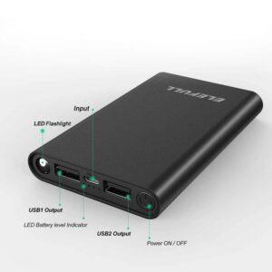 Batterie externe avec LED port usb