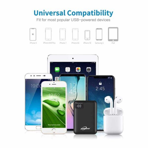 Batterie externe la plus legere 10000mAh compatibiltié universelle