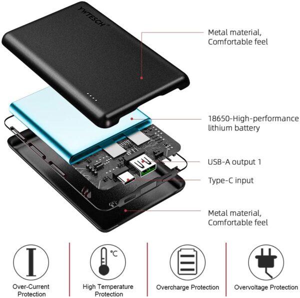Batterie externe pour Apple ports USB