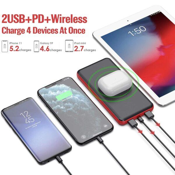 Batterie externe sans fil Samsuing S10 2 USB Power Delivery