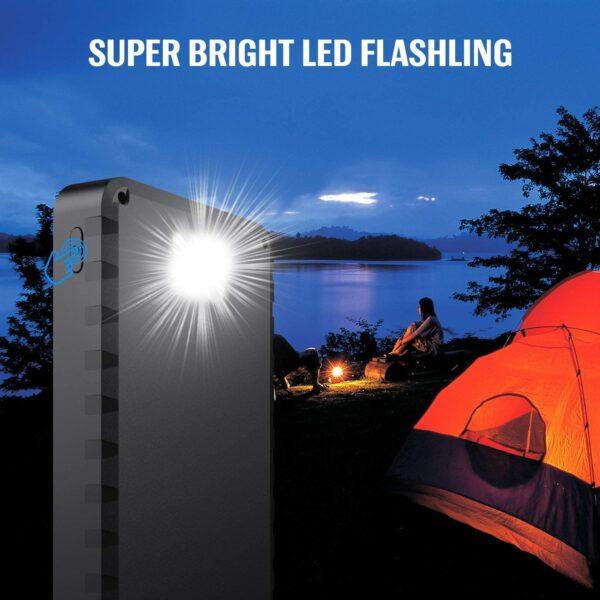 Batterie externe solaire LED lumière puissante