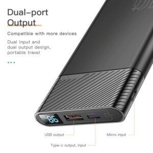 batterie externe 10000mAh legere double port de sortie