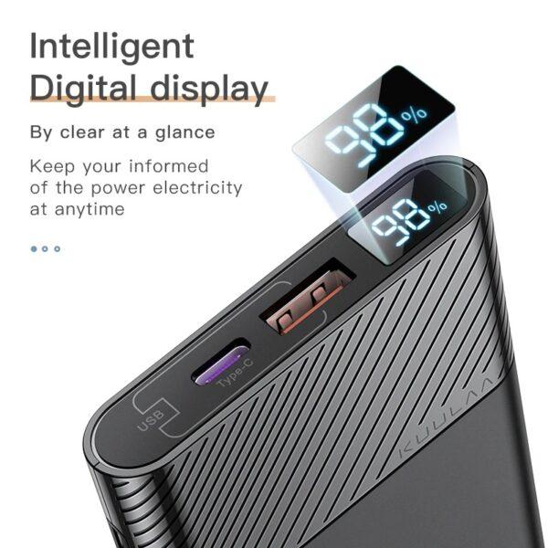 batterie externe 10000mAh legere ecran d'affichage