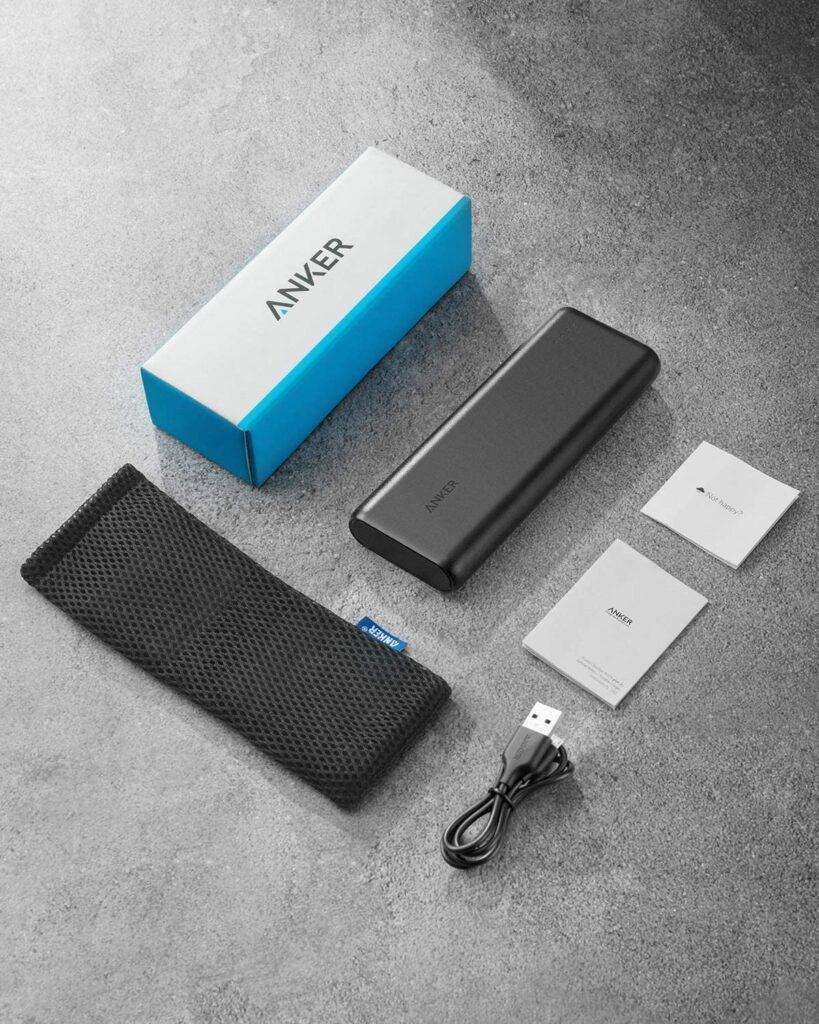 Batterie externe 20000mAh Anker PowerCore contenu de l'emballage