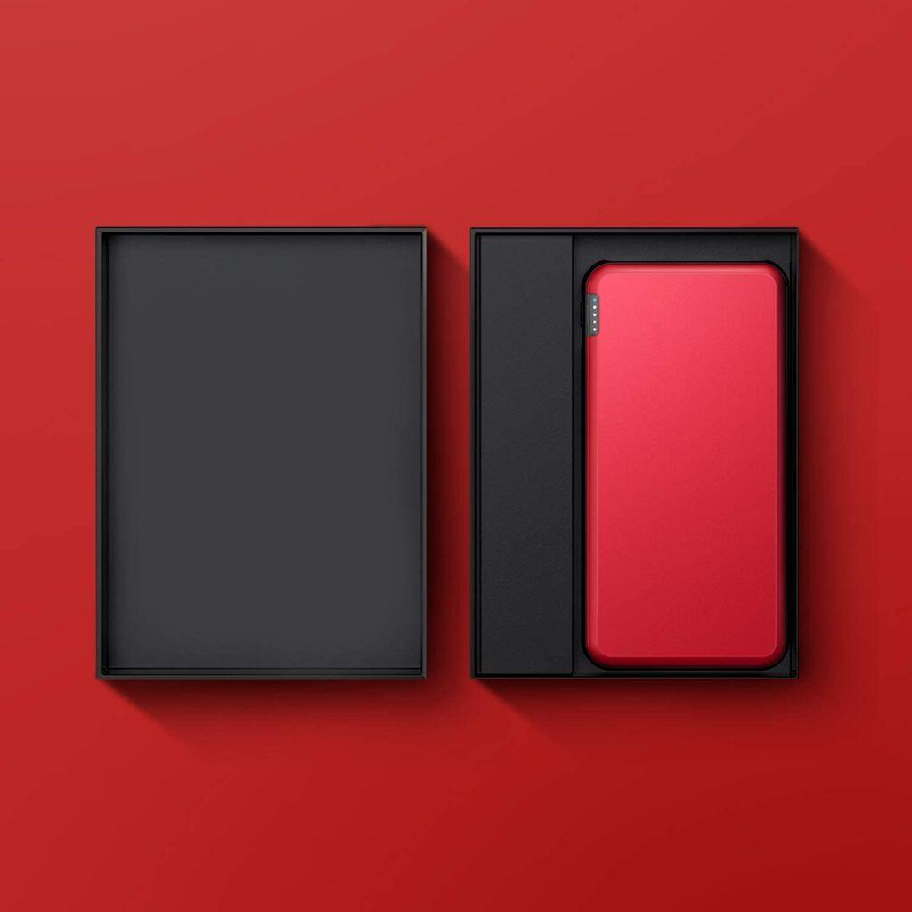 Batterie externe Rouge emballage