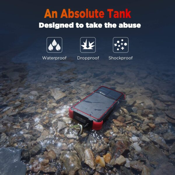 Batterie externe Solaire Charge Rapide waterproof