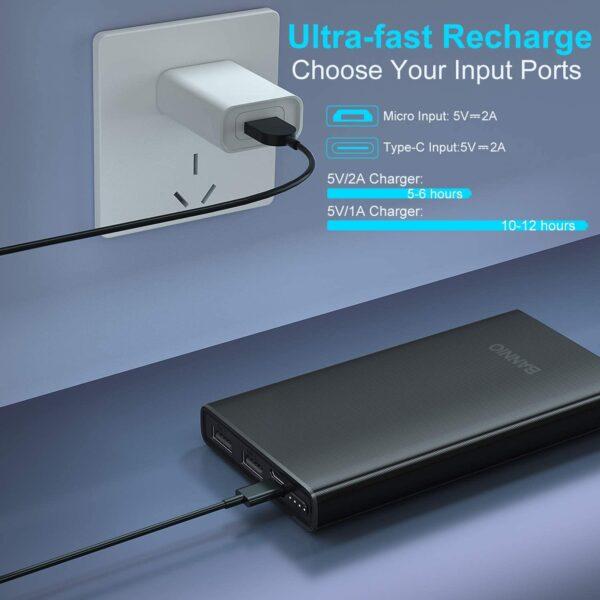 Batterie externe pour téléphone charge rapide