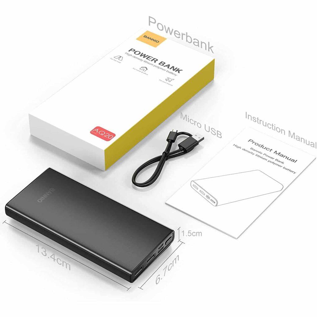 Batterie externe pour téléphone contenu de l'emballage