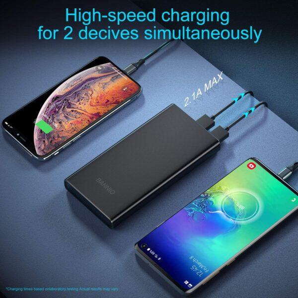 Batterie externe pour téléphone iPhone et Huawei