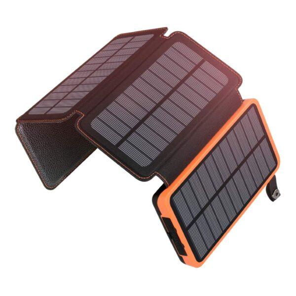 Batterie externe solaire 4 panneaux