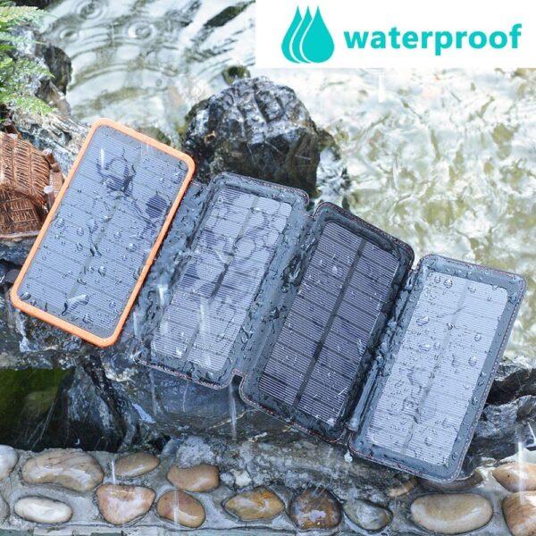 Batterie externe solaire 4 panneaux étanche
