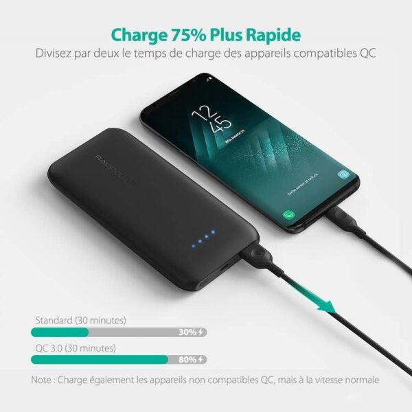 Batterie externe 10000mAh RAVPower charge super rapide