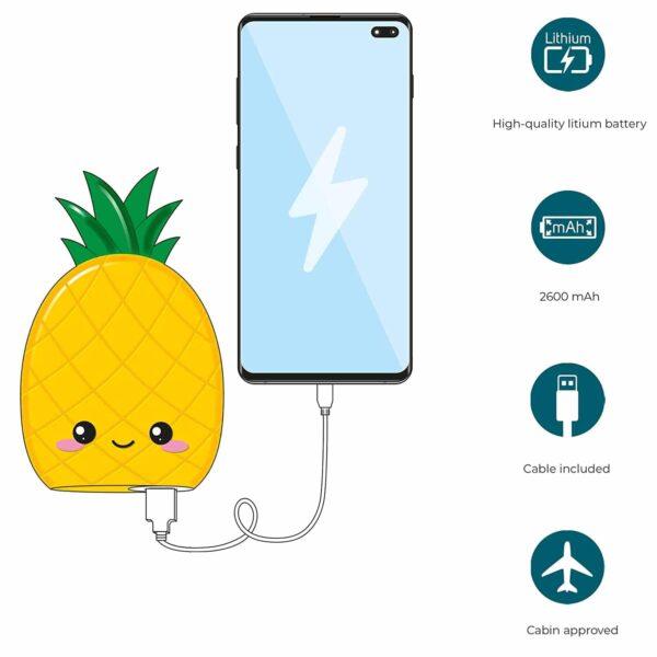 Batterie externe Ananas samsung