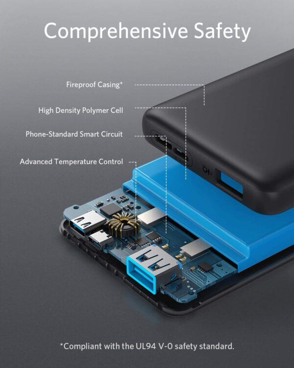 Batterie externe 10000mAh Anker Slim sécurisée
