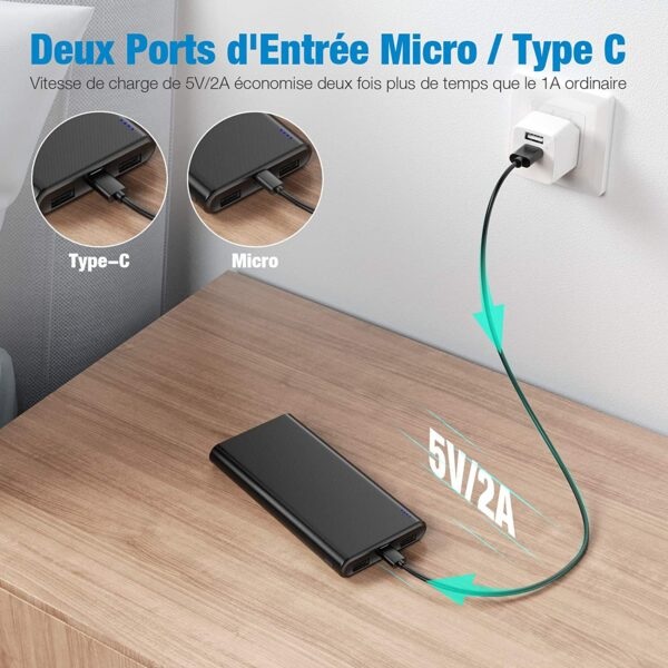 Batterie externe 10000mAh Babaka charge rapide