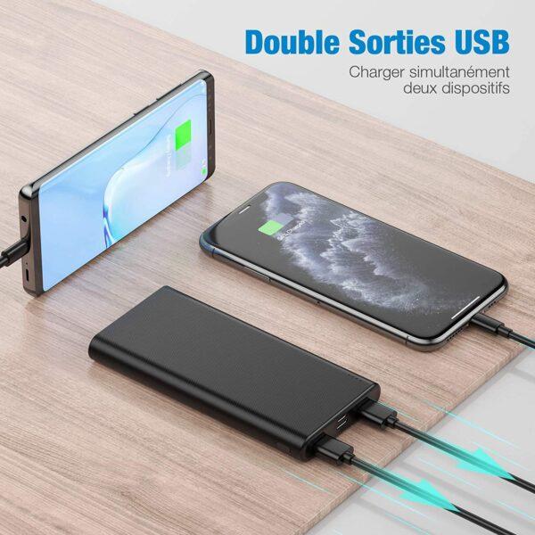 Batterie externe 10000mAh Babaka deux ports USB
