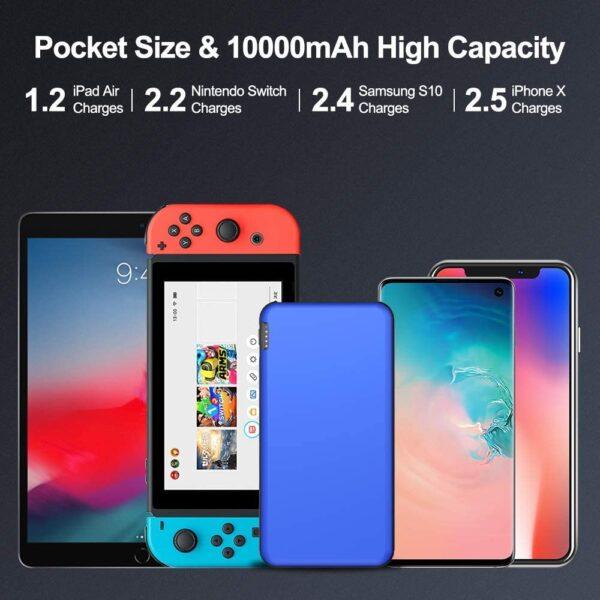 Batterie externe 10000mAh Fine compatibilité universelle