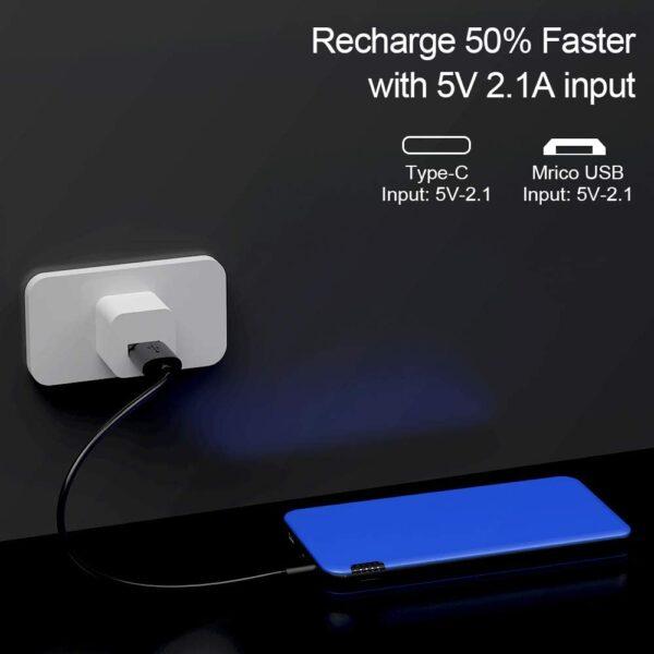 Batterie externe 10000mAh Fine recharge 2 fois plus vite