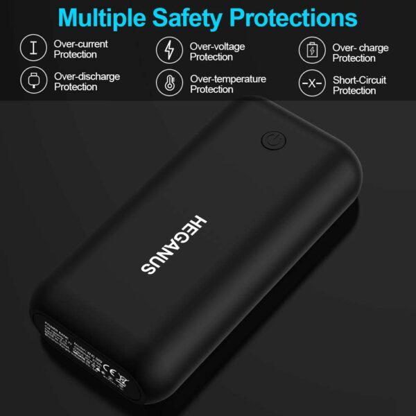 Batterie externe 10000mAh Heganus système multi protection