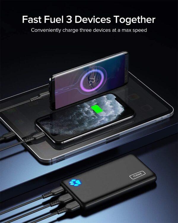 Batterie externe 10000mAh INIU 3 appareils en même temps