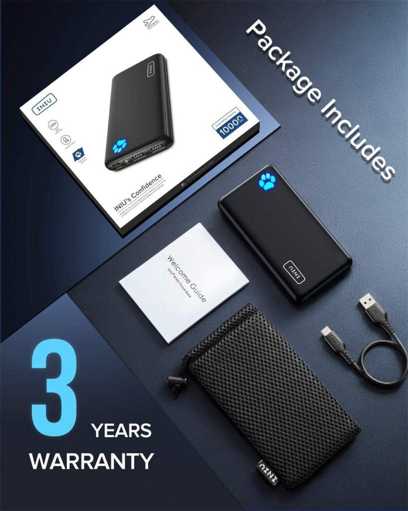 Batterie externe 10000 mAh INIU accessoires