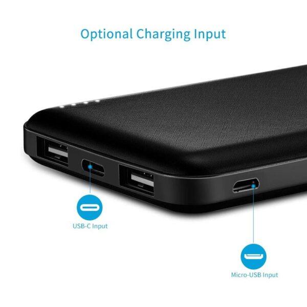 Batterie externe 10000mAh Moxnice entrée optionelle