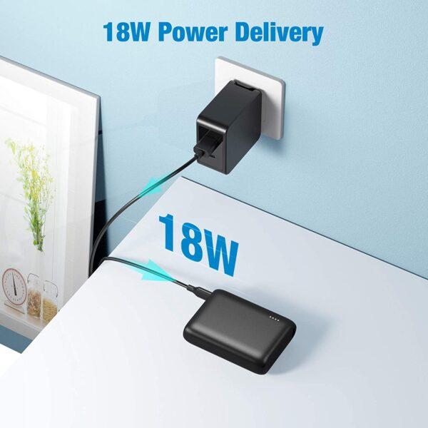 Batterie externe 10000mAh PD Bidirectionnel se recharge vite