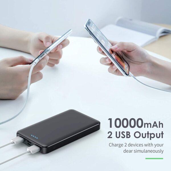 Batterie externe 10000mAh Pack de 2 double sortie