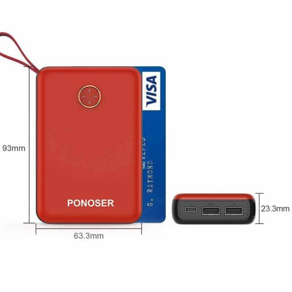 Batterie externe 10000mAh Ponoser petite