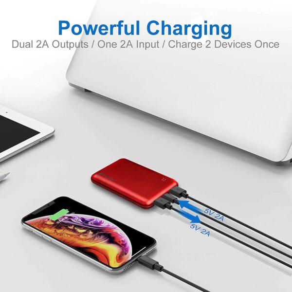 Batterie externe 10000mAh Posugear Rouge charge puissante