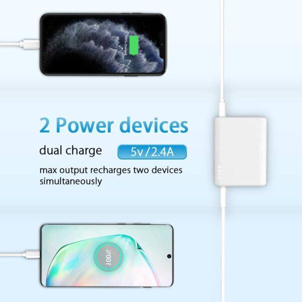 Batterie externe 10000mAh RoHS charge deux appareils