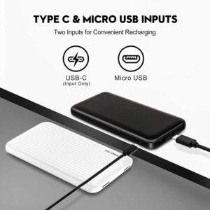 Batterie externe 10000mAh Undreem x2 entrée micro et type c